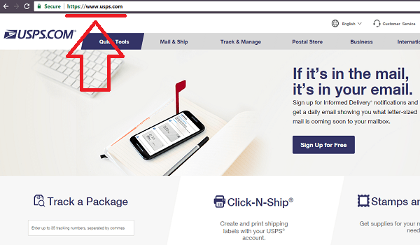 USPS Main URL